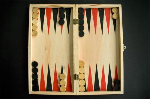Posición de salida en el backgammon