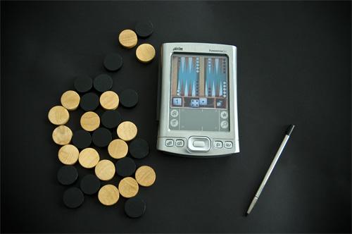 Backgammon en mi agenda electrónica