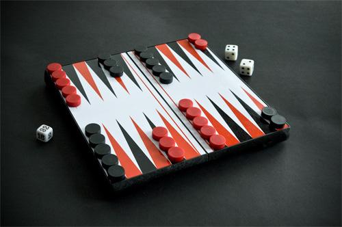 Backgammon magnético Cayro, abierto