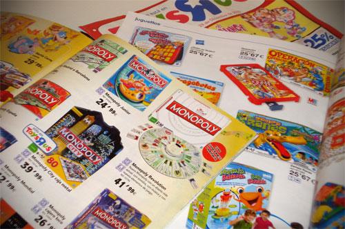 Catálogos de juguetes