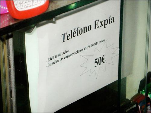 Teléfono expía