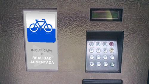 Captura de pantalla de Layar Santander Bici