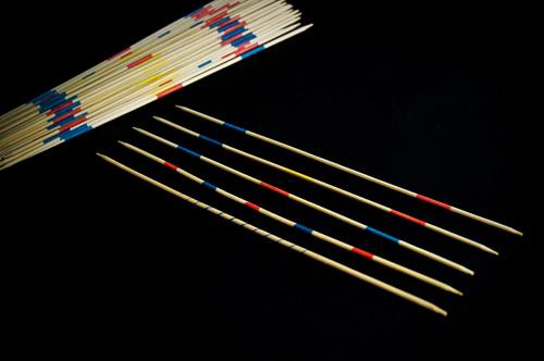 Distintos palillos de Mikado