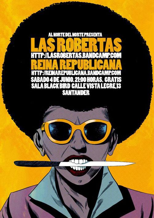 Las Robertas y Reina Republicana - Cartel