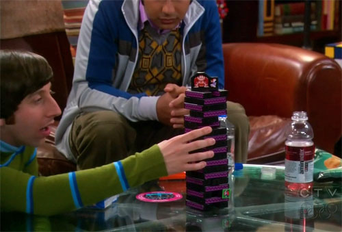 Jenga Donkey Kong en The Big Bang Theory