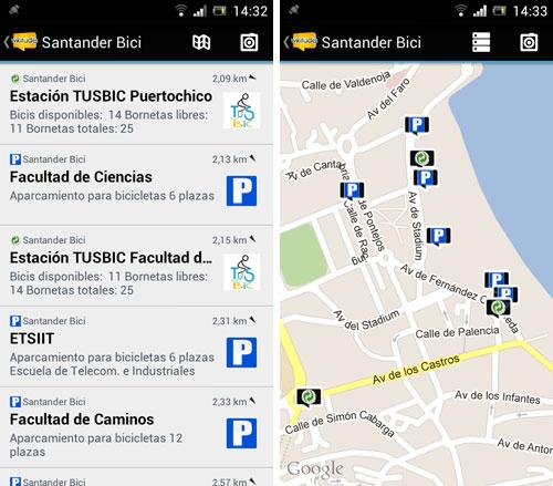 Capturas de pantalla de Wikitude Santander Bici